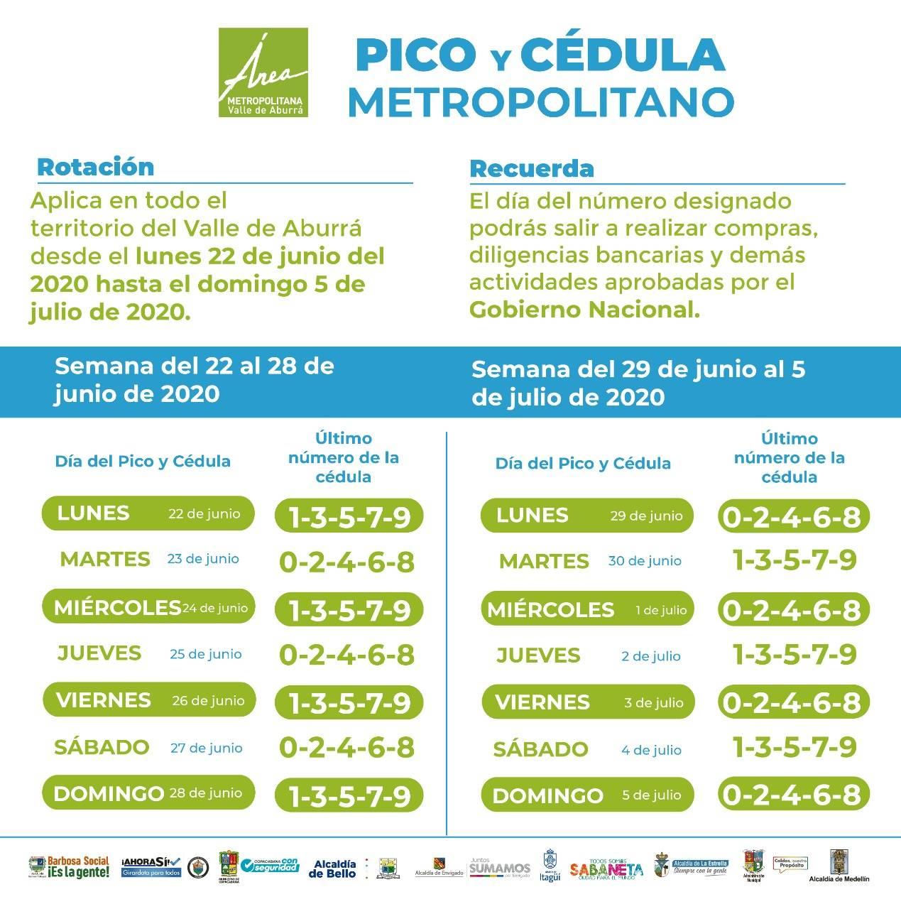 PICO Y CEDULA - HASTA 5 DE JULIO